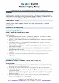Assistant Property Manager Resume Samples QwikResume Extraordinary Assistant Property Manager Resume