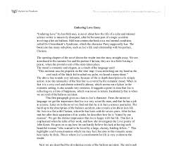enduring love essay gcse english marked by teachers com document image preview