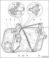 volkswagen workshop manuals > golf mk4 > body > general body repairs body > general body repairs exterior > glazing window mechanism > door window > assembly overview assembly carrier window regulator