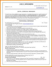 Resume Hotel Manager Fishingstudio Com