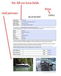 example of bill of sale boat bill of sale watercraft