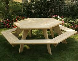 office good looking round picnic table plans 10 tables treated pine hexagon xvbyjxq free round picnic