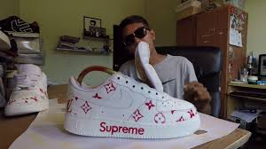 gucci air force 1. reshoes \u0026 customs with 9raf - nike air force 1 low x superme louis vuitton gucci