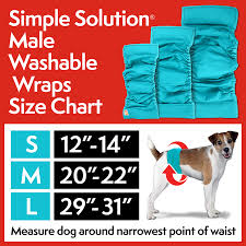 Belly Band Size Chart Simple Solution Washable Male Wrap Dog Wrap Belly Bands