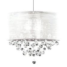 white chandelier shades fabric shade crystal chandelier drum shade crystal chandelier co new with within fabric