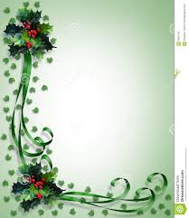Holiday Borders For Word Documents Free Christmas Border Holly And Ribbons Stock Illustration Illustration