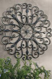 exterior wall decor outdoor wall art wrought iron large sun metal decoration ideas with decor remodel