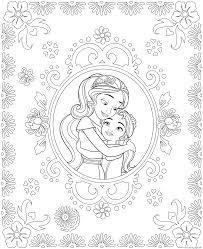 Print Princess Elena Of Avalor And Sister Isabel Colouring Page
