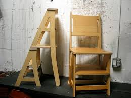 Kitchen Design - Ideas and Picture - Kitchen Furniture : Splendid Wooden  Chair Step Stool Combination With Folding Seat For Ladder Chair Also  Unfinished ...