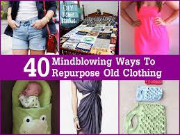 repurpose old clothing