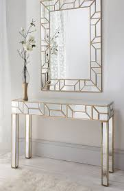 hallway table and mirror. Mirror And Console Table Sets Geometria Gold Mirrored Consoles Tables Set Shropshire Design Glamour Clean Hallway W