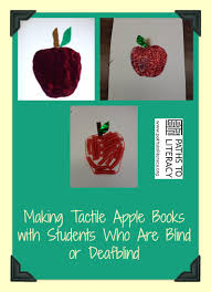 apple book. tactile apple book collage