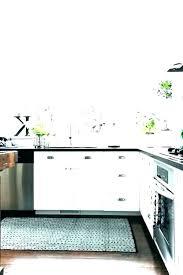 striped kitchen rug blue
