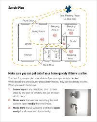 Evacuation Plan Sample 7 Home Evacuation Plan Templates Ms Word Pdf Free