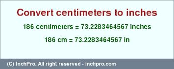 Centimeters To Decimeters Conversion Chart 186 Cm In Inches Convert 186 Centimeters To Inches