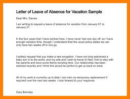 letter for vacation leave letter of leave of absence for vacation sample 212 3