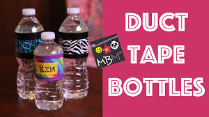 Water Bottles To Decorate Duct Tape DIY Party Decorations Custom Water Bottles YouTube 1