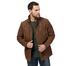 barneys big and tall brown leather jacket lining wadding 100 polyester regular fit