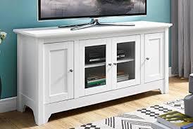 white media console furniture. WE Furniture 52\u0026quot; Wood TV Media Stand Storage Console - White