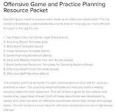 Call Play Football Sheet Template Excel Coach Wrist Creator