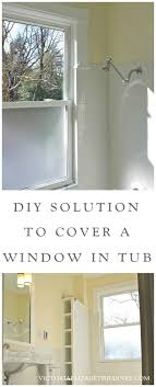 our old house bathroom has a large window in the shower see