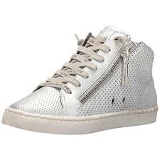 Dolce Vita Womens Zabra Perforated High Top Fashion Sneakers
