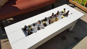 outdoor cooler coffee table built in