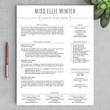 Free Teacher Resume Templates Adorable Free Teacher Resume Templates Free Professional Resume Templates