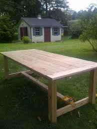 diy outdoor farmhouse table. 40+ DIY Farmhouse Table Plans The Best Outdoor Seating \u0026 Dining Room   Plans, And Diy A