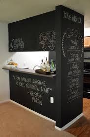simple basement bar ideas. DIY Chalkboard Wall Simple Basement Bar Ideas N