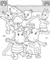 Small Picture Backyardigans Coloring Pages Colouring for Kids