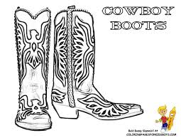 Western Boots Coloring Page Coloring For Cowboy Boots At