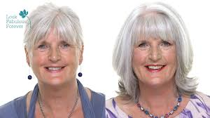 Makeup For Older Women Perfect Makeup With Grey Or White Hair