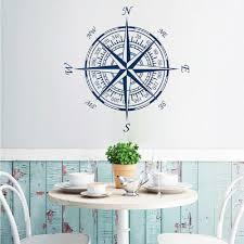 best dsu compass nautical compass rose wall art stickers decals home diy decoration wall mural removable