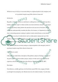Reflective Essay Format Examples Reflective Essay On Histofy Of A Depressed Patient At The