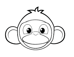 Cute Monkey Coloring Pages Printable Cartoon Pictures To Color Sheet