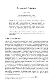 computer history essay causes and effects of computer revolution  pre electronic computing springer inside