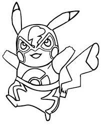 Kleurplaat Pikachu 1