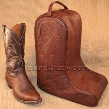 8423 tooled leather boot bag