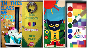 when it comes to classroom doors some schools go wild with decorations and others are forbidden to do so by the fire marshal if you fall into the former