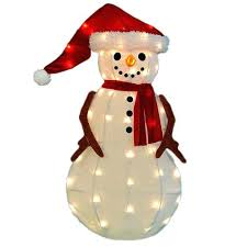 outdoor snowman decorations lit decor diy Outdoor Snowman Decorations Lit Decor Diy