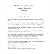 30 60 90 Business Plan Template 30 Day Business Plan 90 Day Business