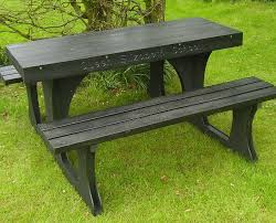 solway s picnic tables recycled plastic picnic table black picnic table