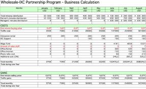Business Plan Template Excel Format Business Plan Spreadsheet
