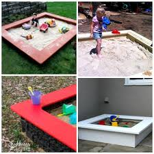 top 10 backyard sandbox ideas seats