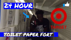 hour overnight target challenge huge toilet paper fort 24 hour overnight target challenge huge toilet paper fort
