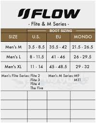 Lamar Snowboard Size Chart 43 Logical Flow Boot Size Chart