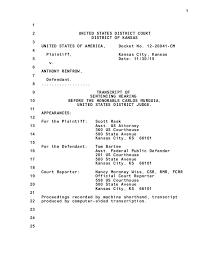 Tnt Tony Tnt Tony Iraqi Dinar Guru Scam Court Sentencing Transcript