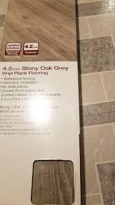 stoney oak grey vinyl plank flooring
