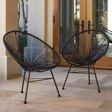 wicker patio chairs.  Patio Shop Sarcelles Modern Wicker Patio Chairs By Corvus Set Of 2  Free  Shipping Today Overstockcom 17805643 Inside M